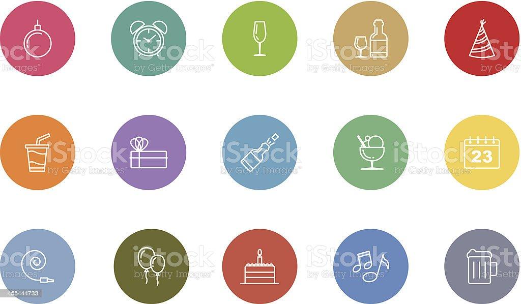 birthday and celebration icons royalty-free stock vector art