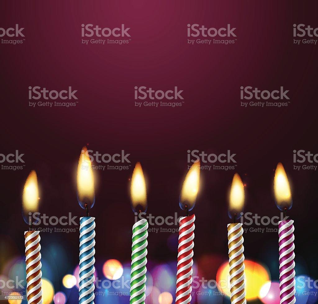 Birthday background vector art illustration