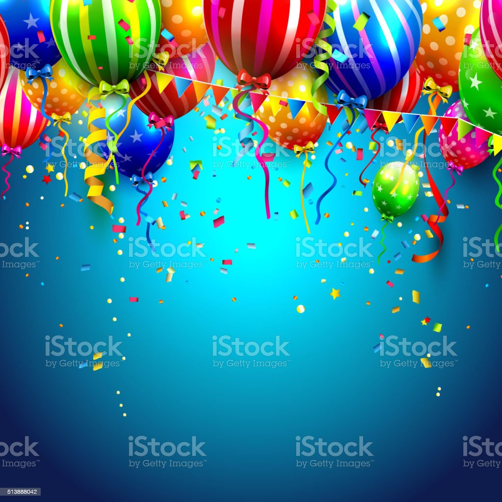 Birthday background vector art illustration