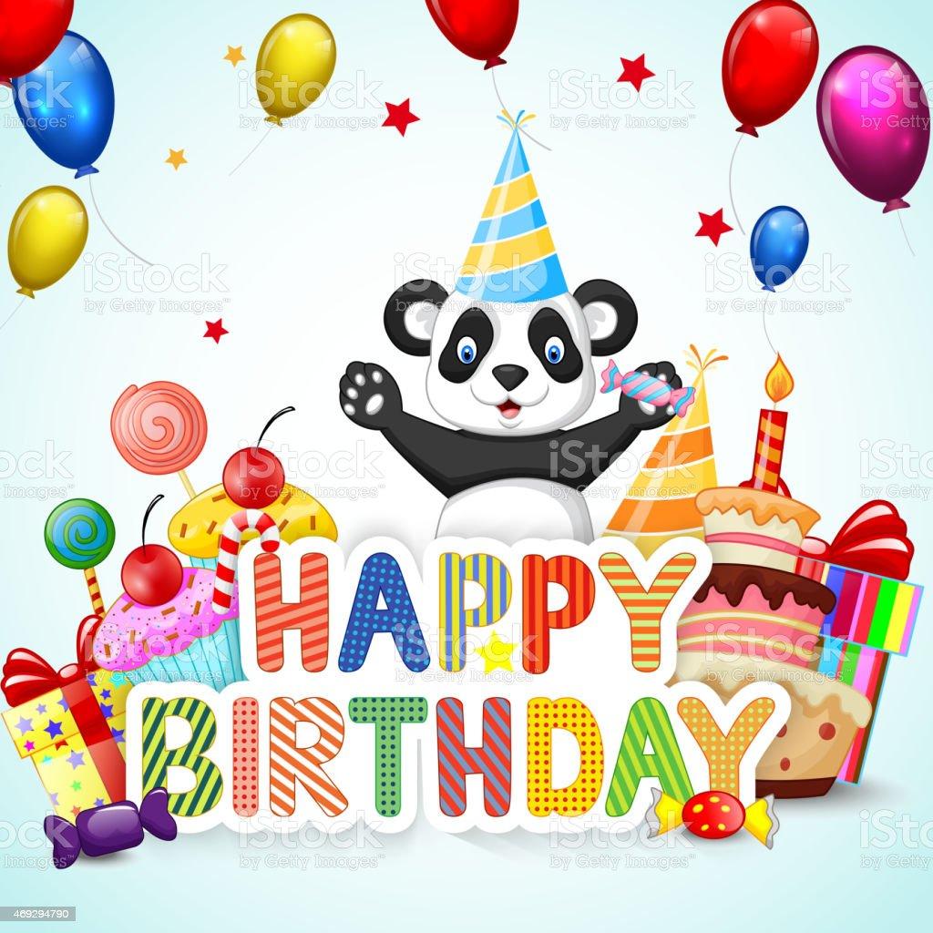 Поздравления с днем рождения от панды