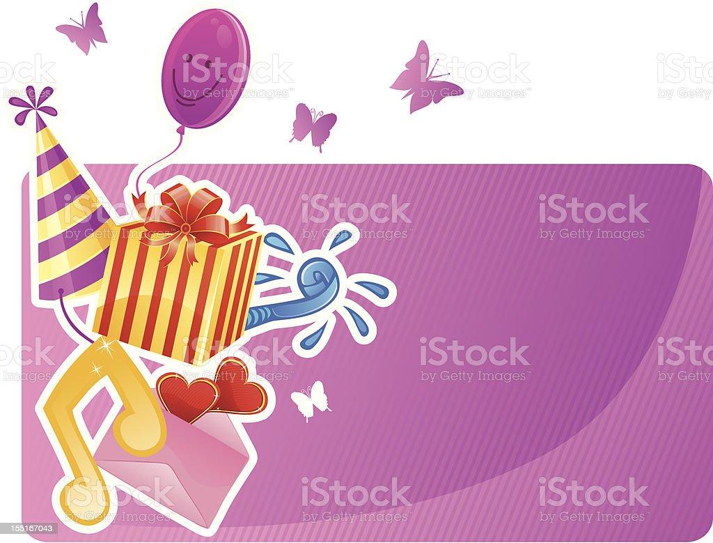 Birthday banner royalty-free stock vector art