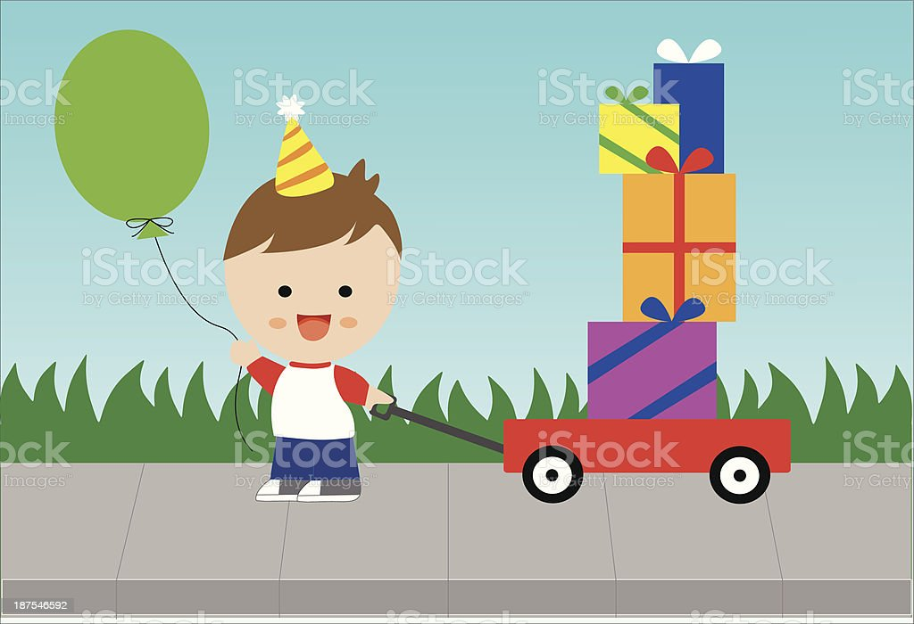 Birthday Boy royalty-free stock vector art