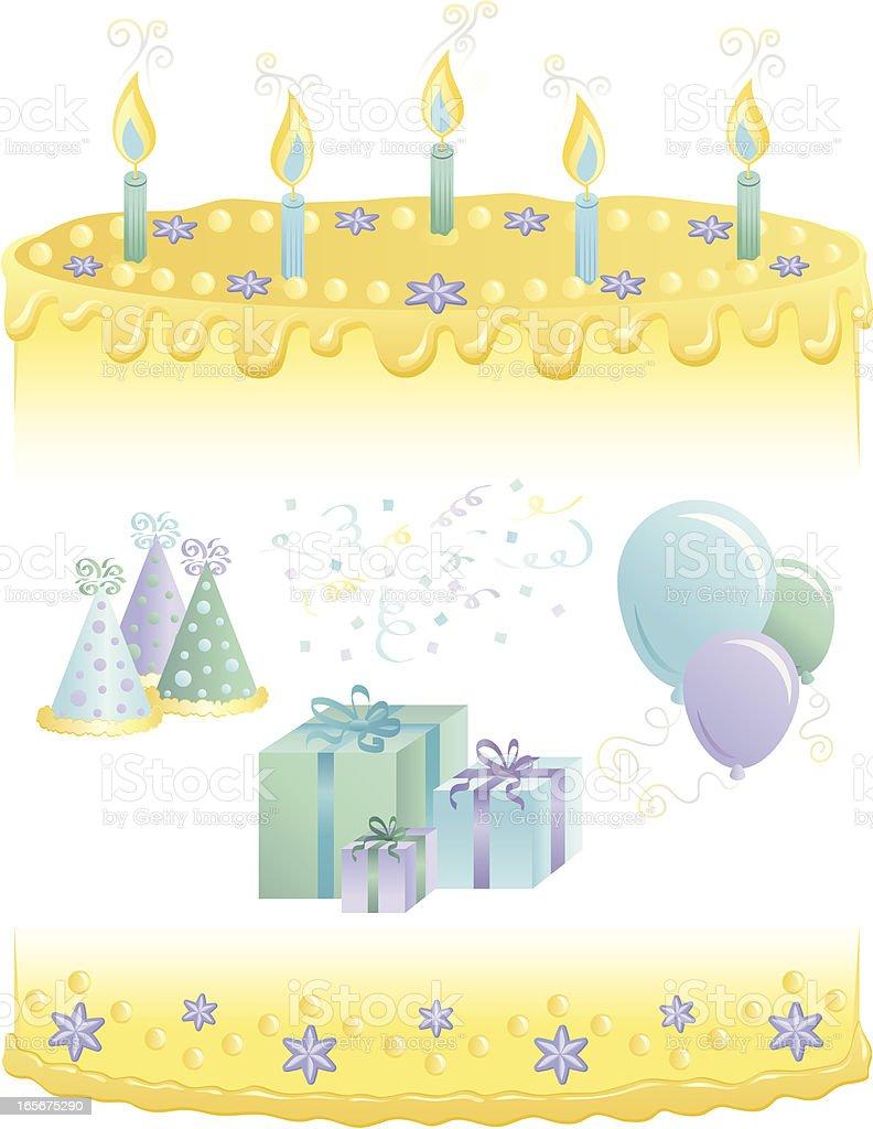 Birthday Cake Border royalty-free stock vector art