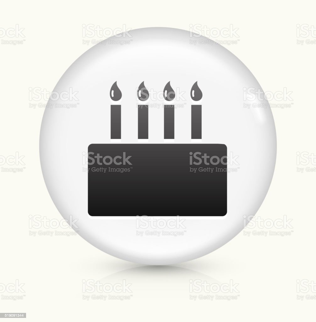 Birthday Cake icon on white round vector button vector art illustration
