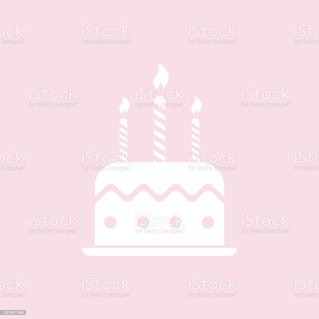 Birthday cake icon vector art illustration