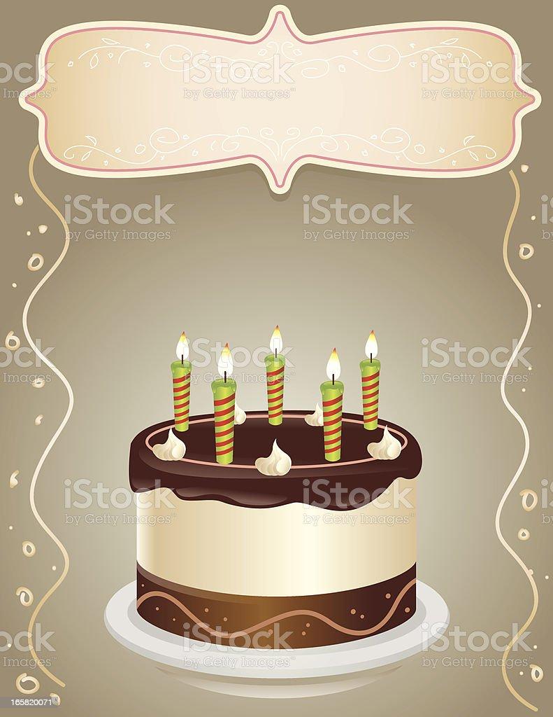 Birthday Cake Illustration vector art illustration