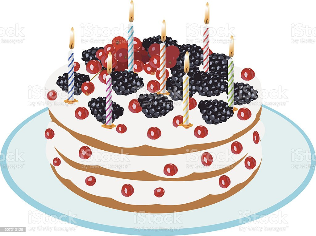 Birthday Cake - Illustration royalty-free stock vector art