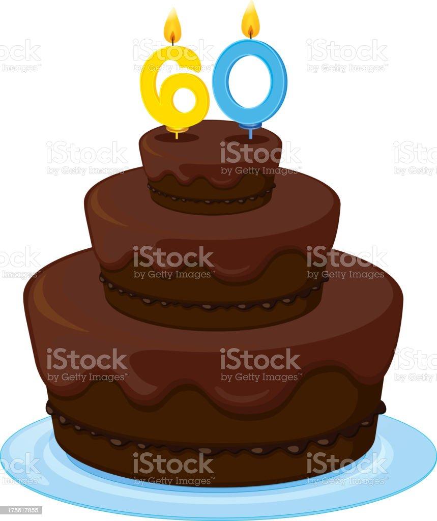 Birthday cake royalty-free stock vector art