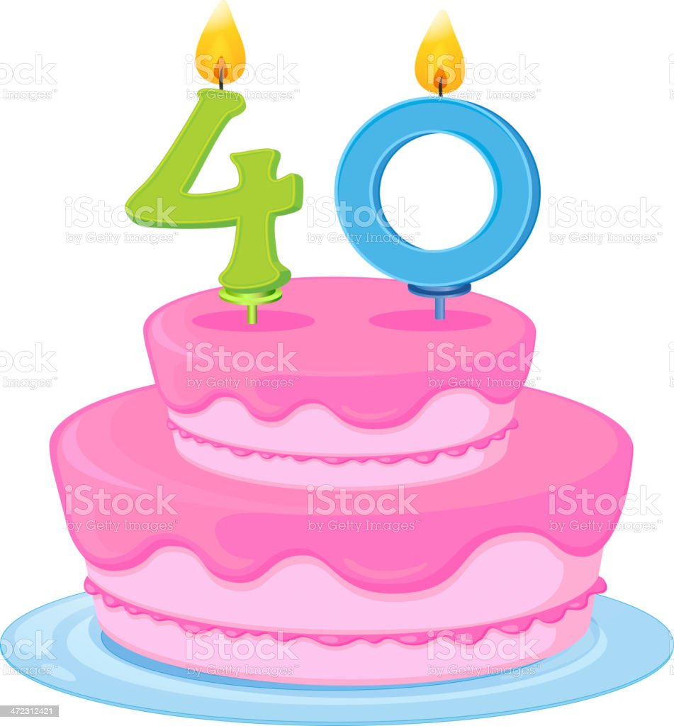 Birthday cake royalty-free stock vector art