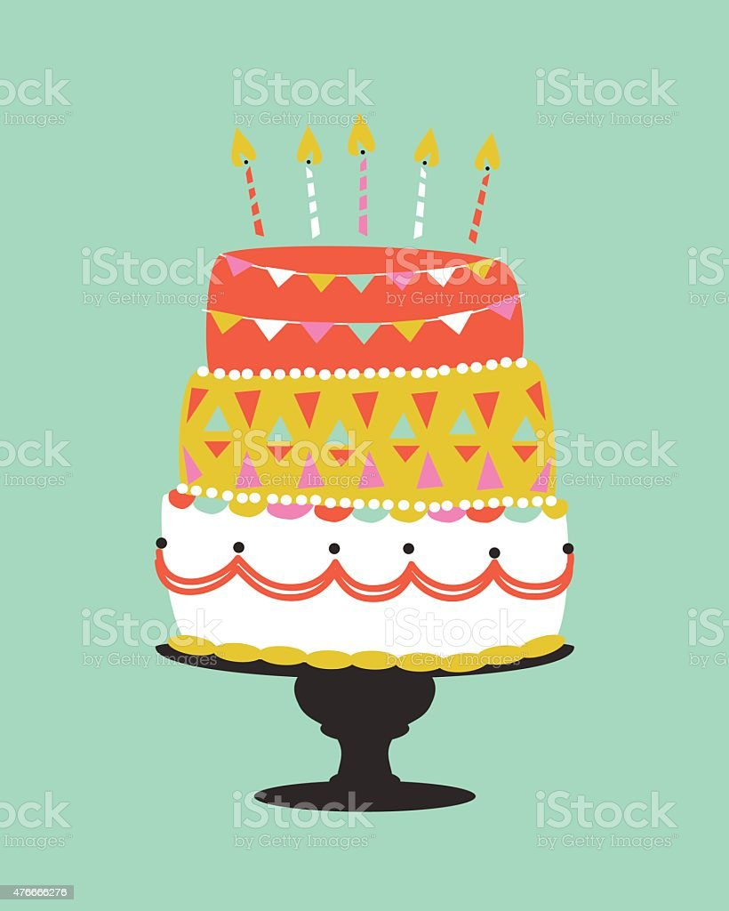 This Is How Birthday Cake Illustration Will Look Like In 10 Years ...