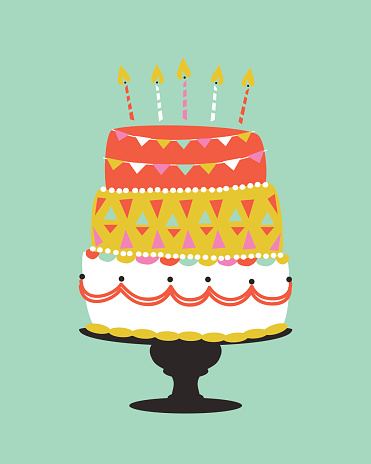 Cake Drawing Clip Art : Birthday Cake Clip Art, Vector Images & Illustrations - iStock