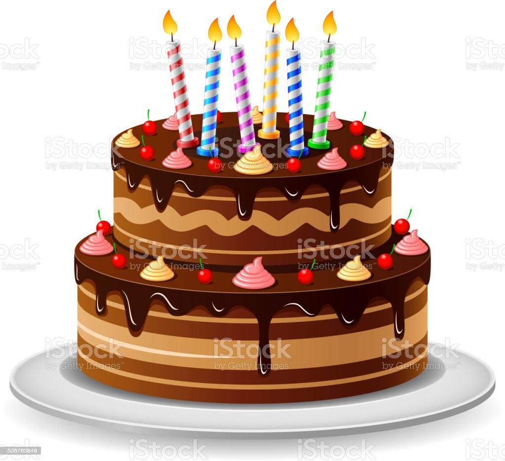 Birthday Cake vector art illustration