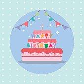 birthday cake vector illustration. birtday celebrations
