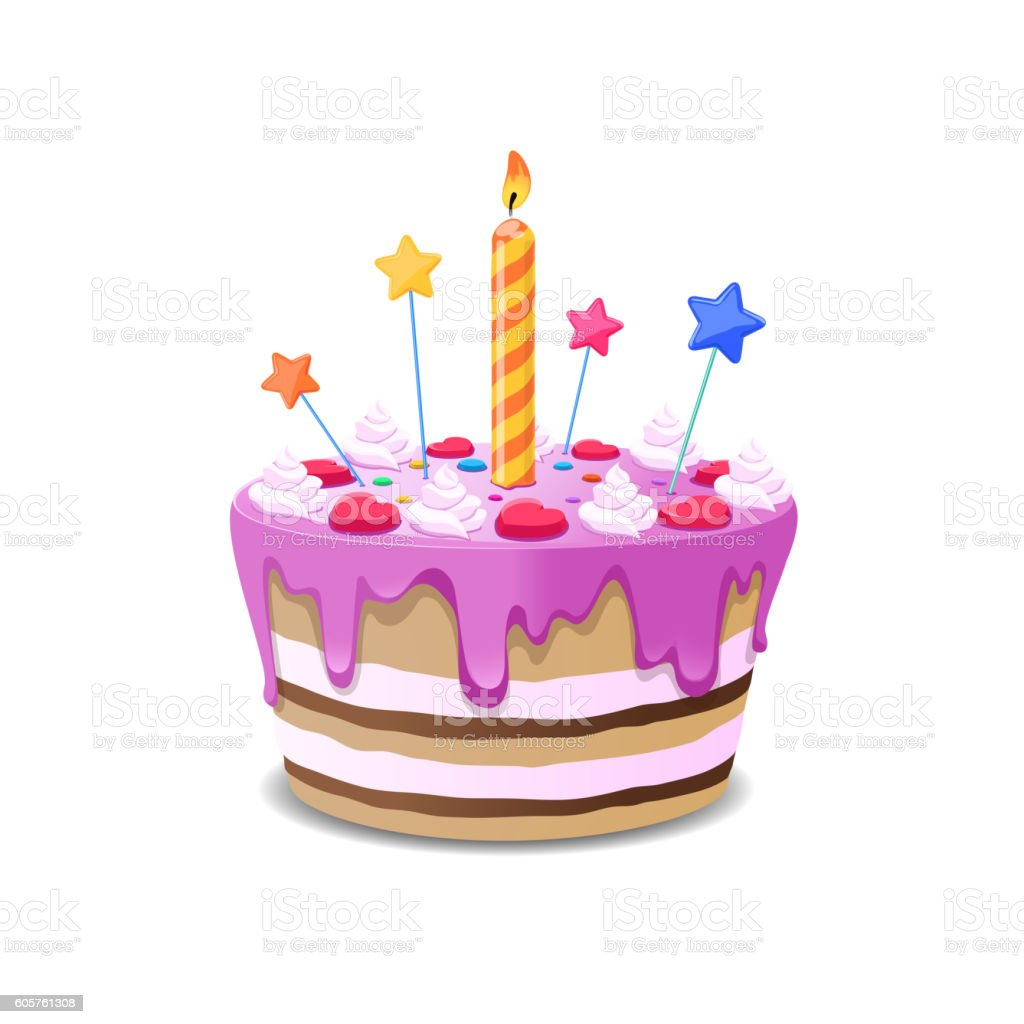 Cake Pictures Vector : Birthday Cake Vector stock vector art 605761308 iStock