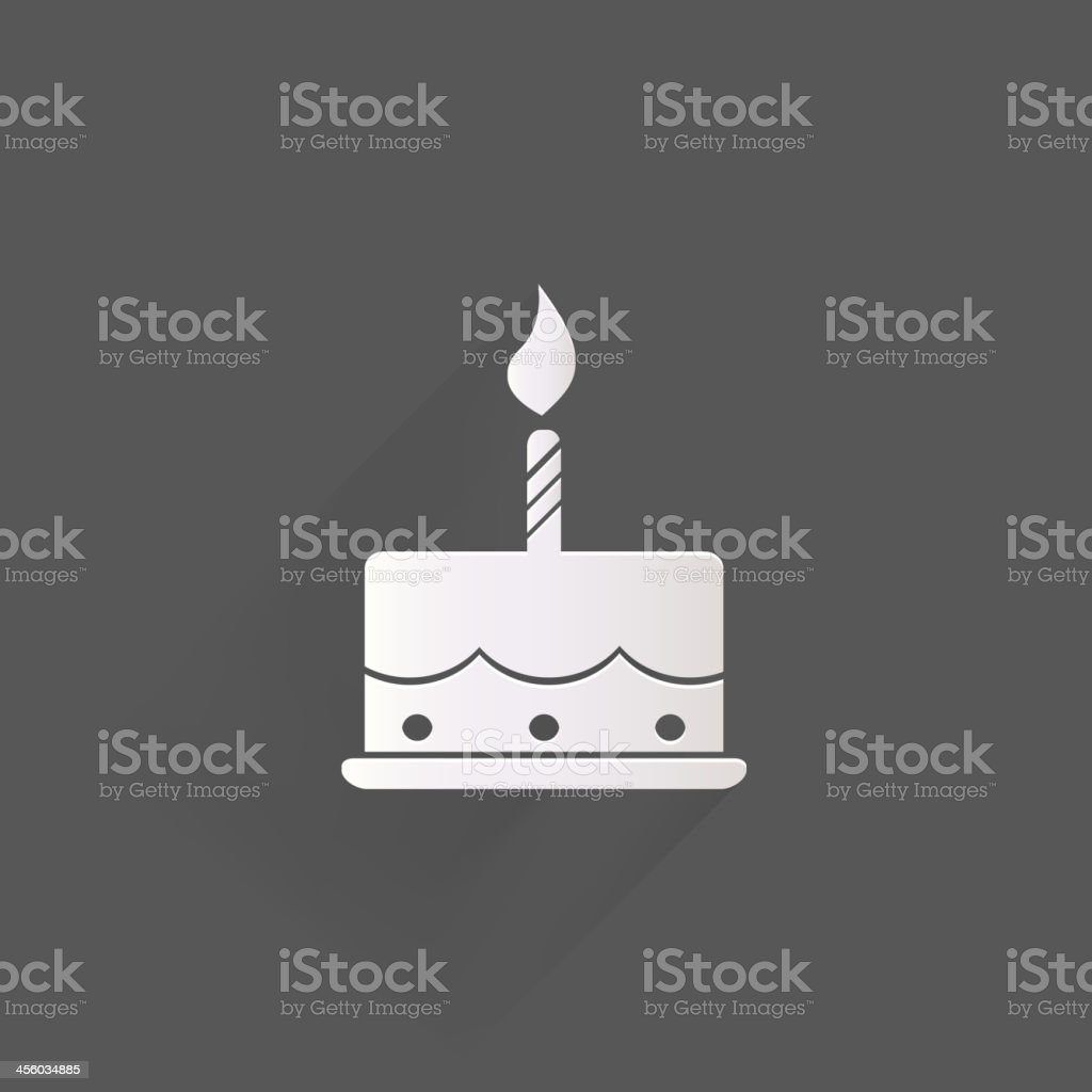 Birthday cake web icon vector art illustration