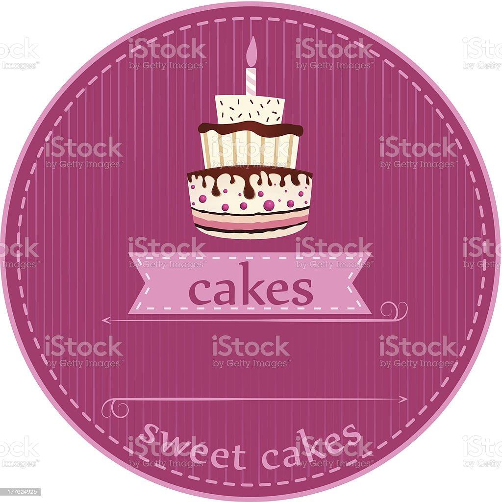 birthday cakes royalty-free stock vector art