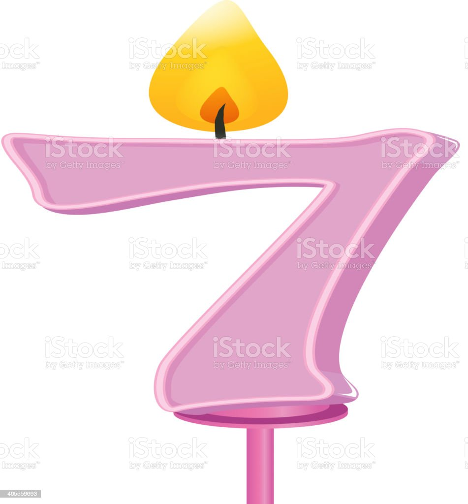 Birthday candle number royalty-free stock vector art