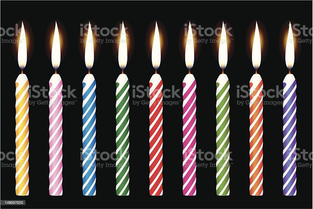 birthday candles royalty-free stock vector art
