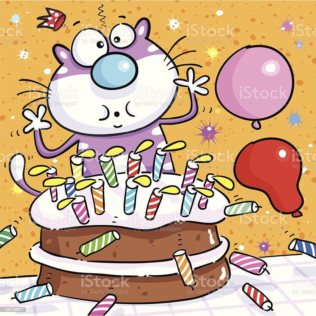 Birthday Candles vector art illustration
