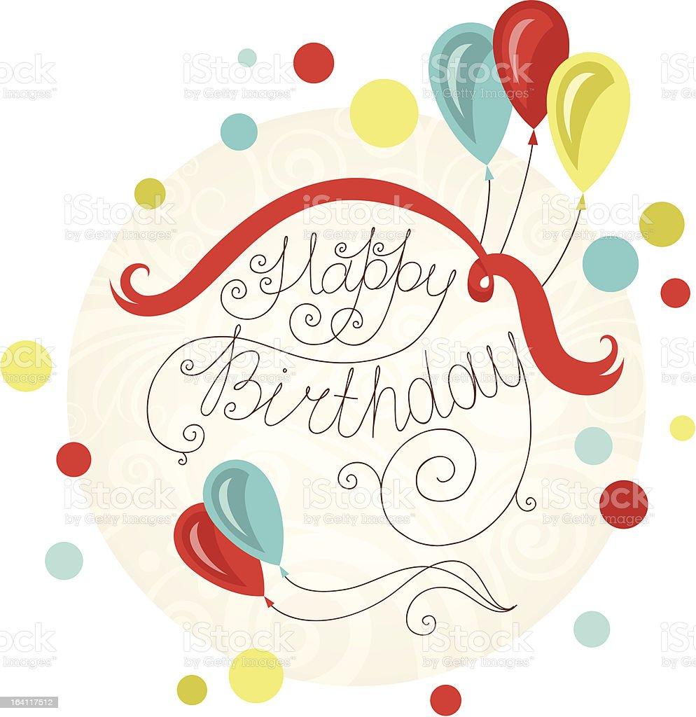 Birthday Card royalty-free stock vector art