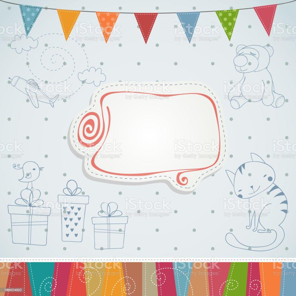Birthday card. royalty-free stock vector art