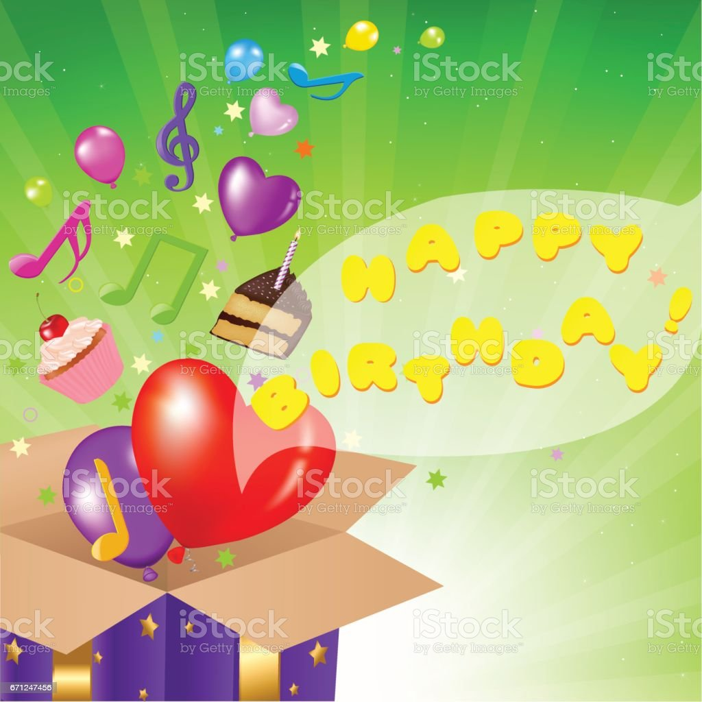 Birthday Card vector art illustration