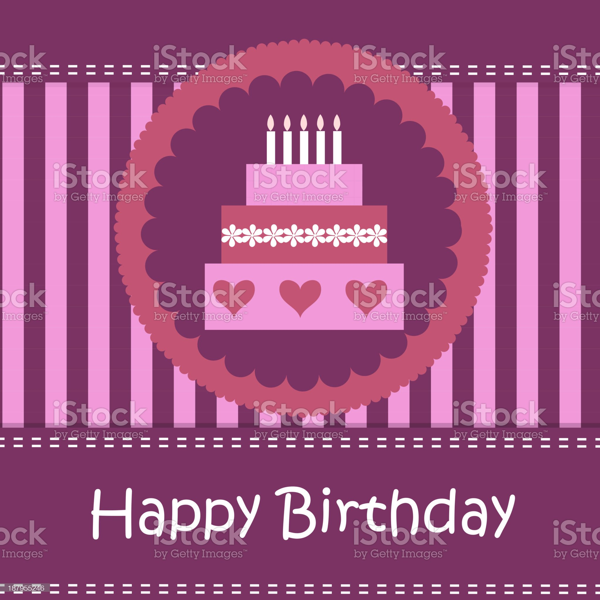 Birthday card with copy space royalty-free stock vector art