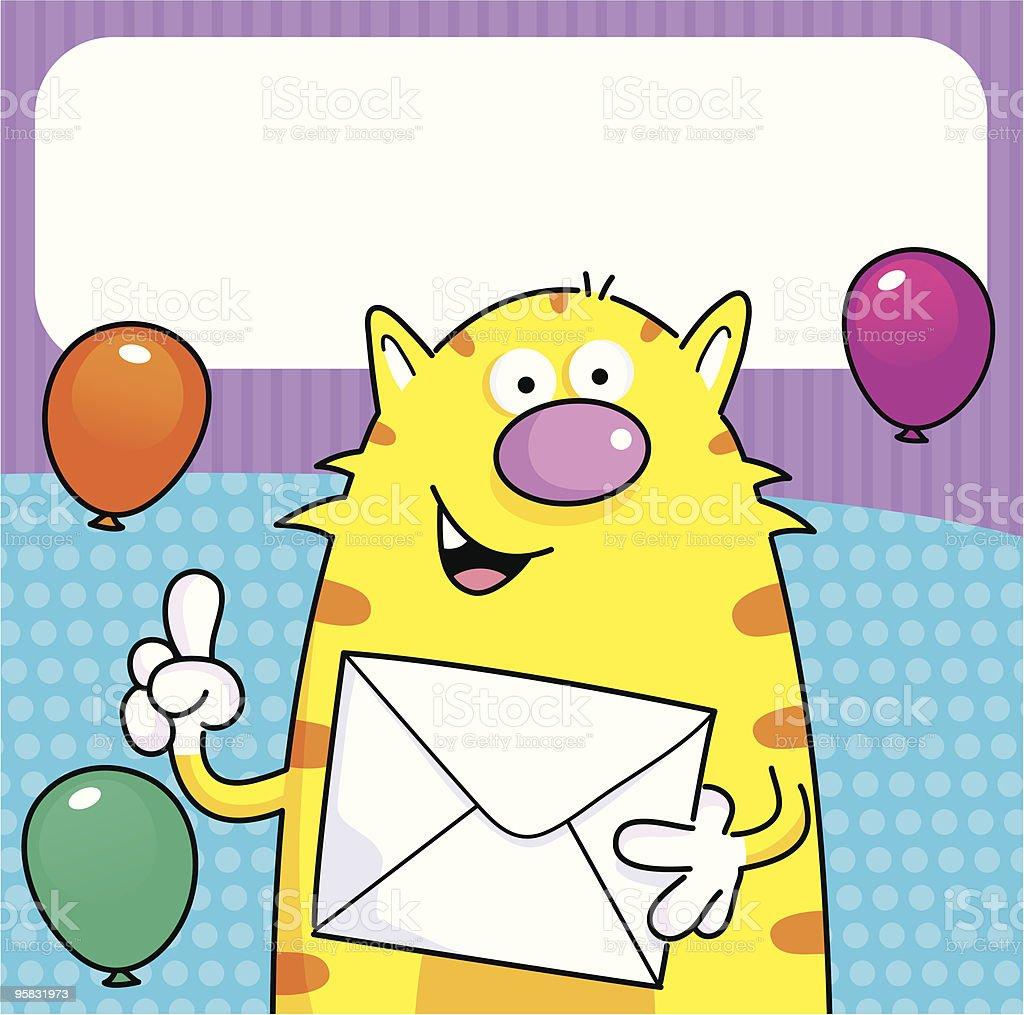 Birthday Cat royalty-free stock vector art