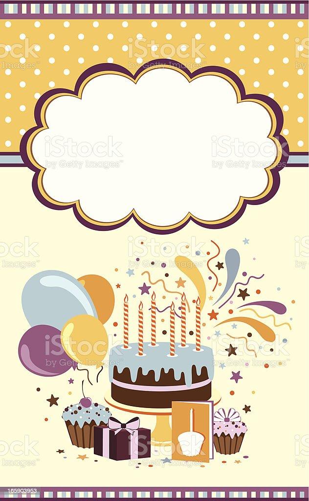 Birthday celebration card template royalty-free stock vector art