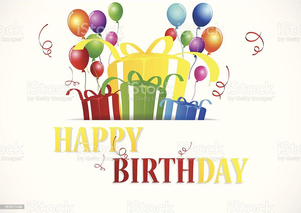Birthday Celebration royalty-free stock vector art