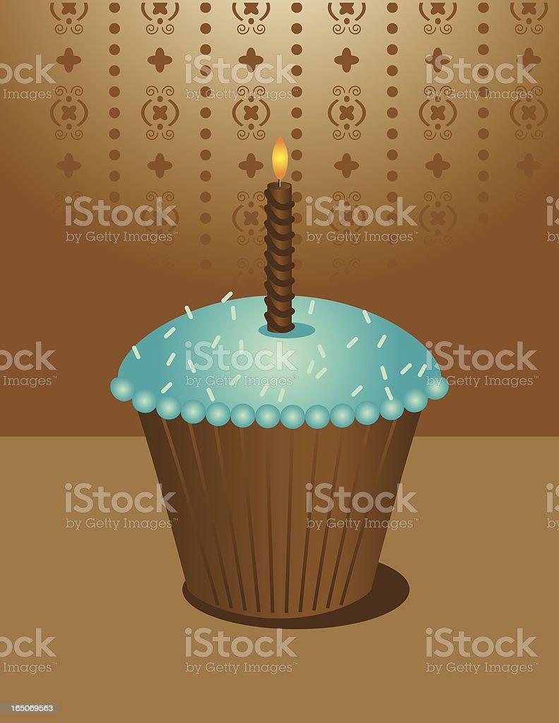 Birthday Chocolate Cupcake royalty-free stock vector art