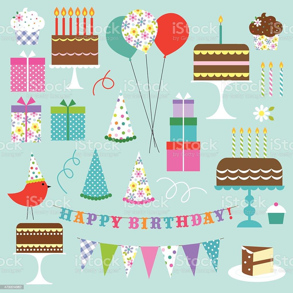 Birthday Clipart vector art illustration