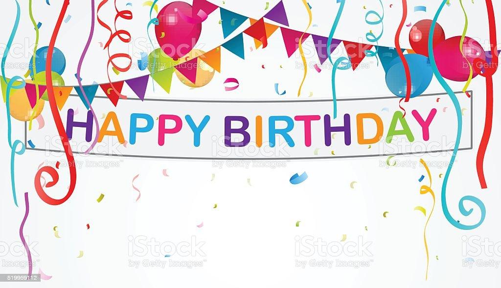 Birthday decoration background vector art illustration