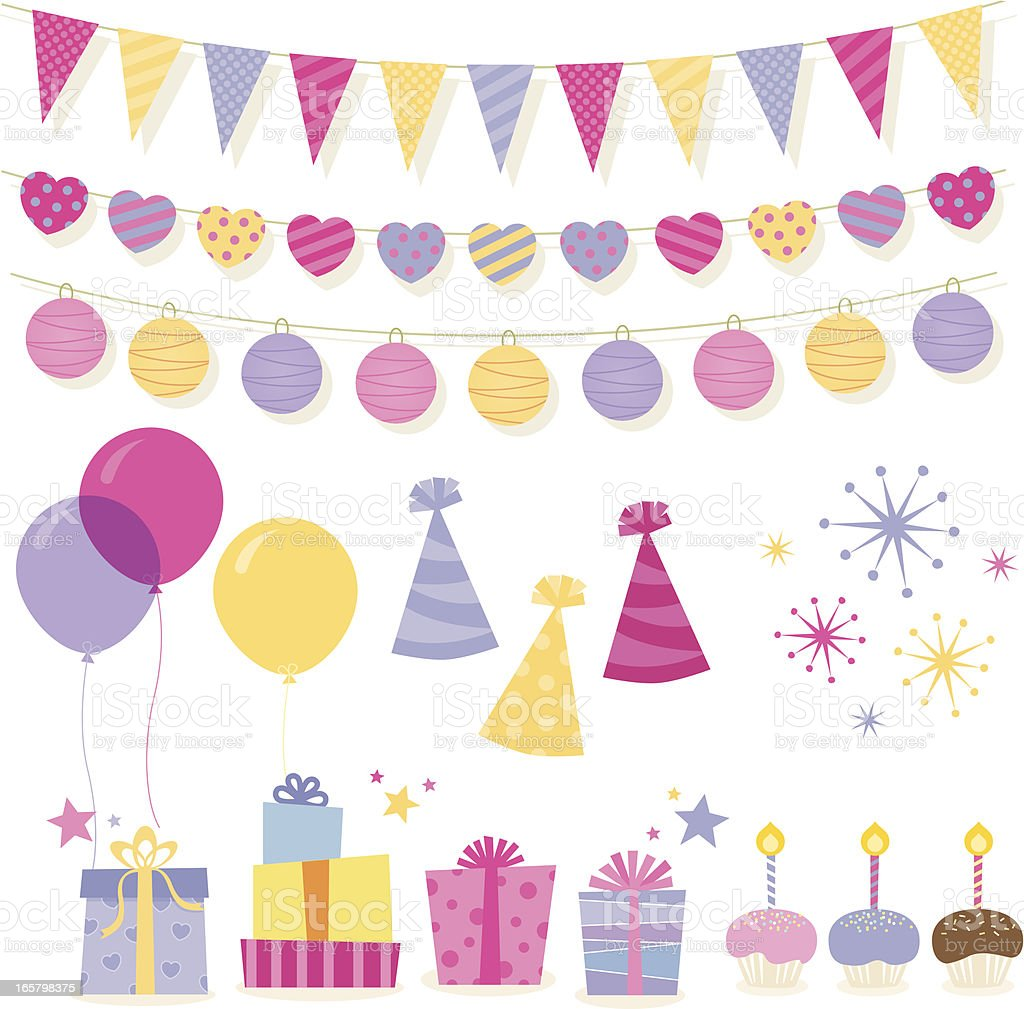 Birthday elements royalty-free stock vector art
