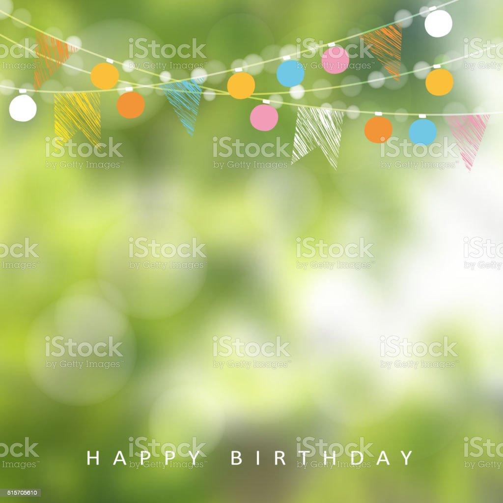 Birthday garden party or Brazilian june party, vector illustration vector art illustration