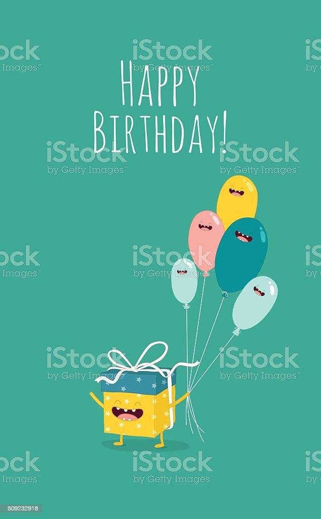 birthday gift vector art illustration