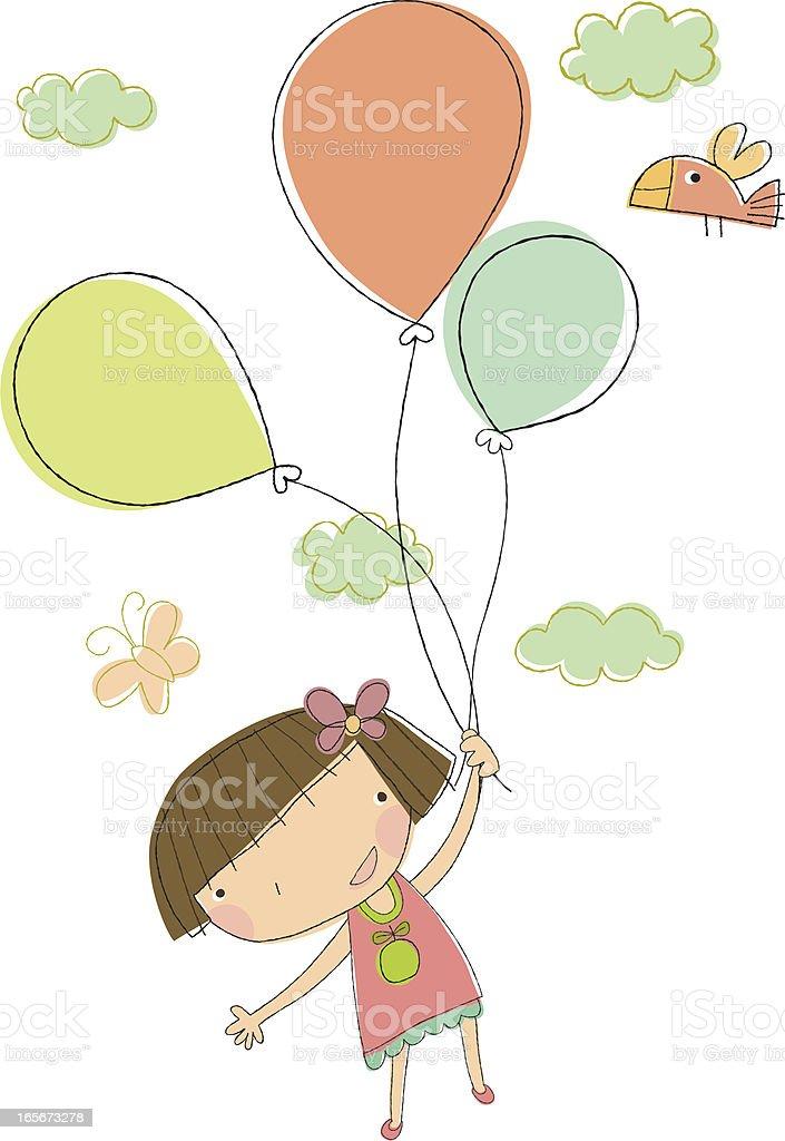 Birthday Girl Celebration royalty-free stock vector art
