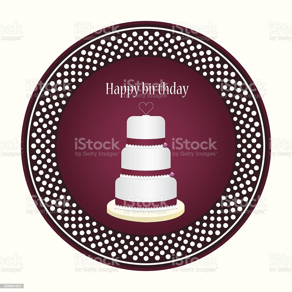 Birthday greeting card vector art illustration