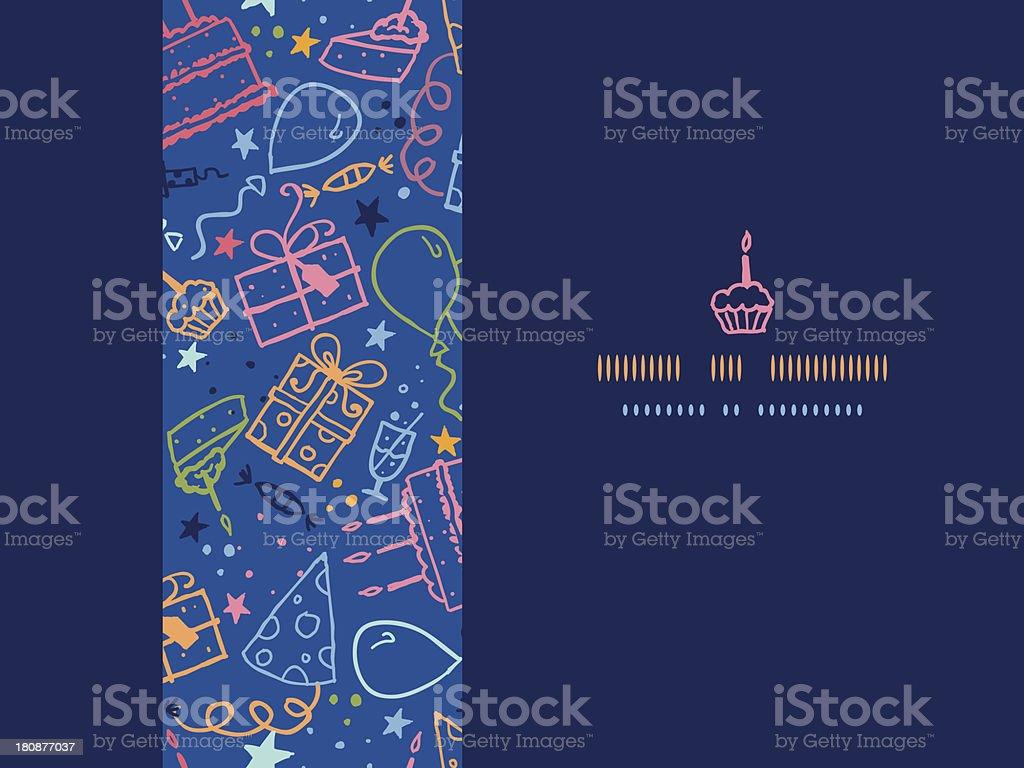 Birthday horizontal seamless pattern background royalty-free stock vector art