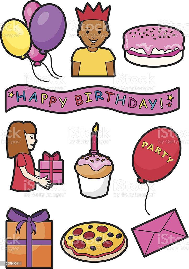 Birthday icons 2 royalty-free stock vector art