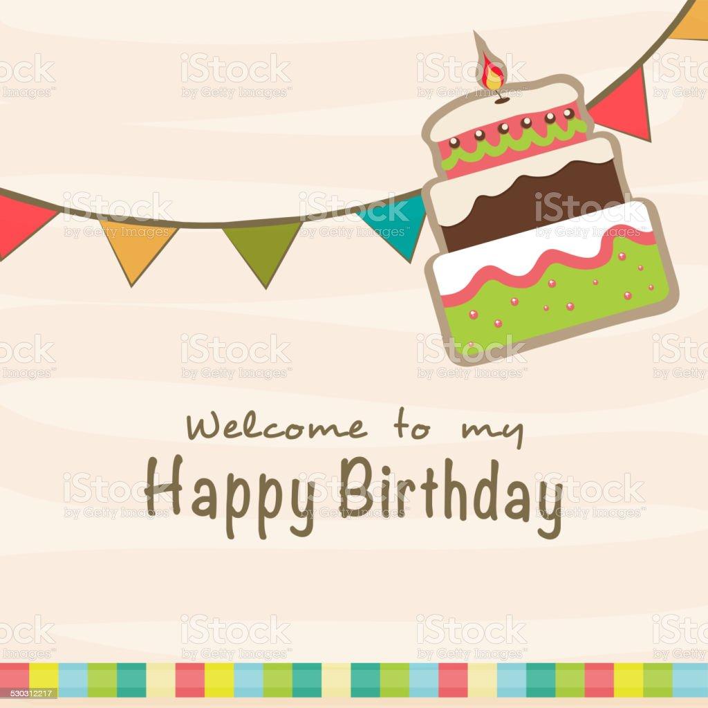 Vector Birthday Cake Invitation Stock Vector 100479379
