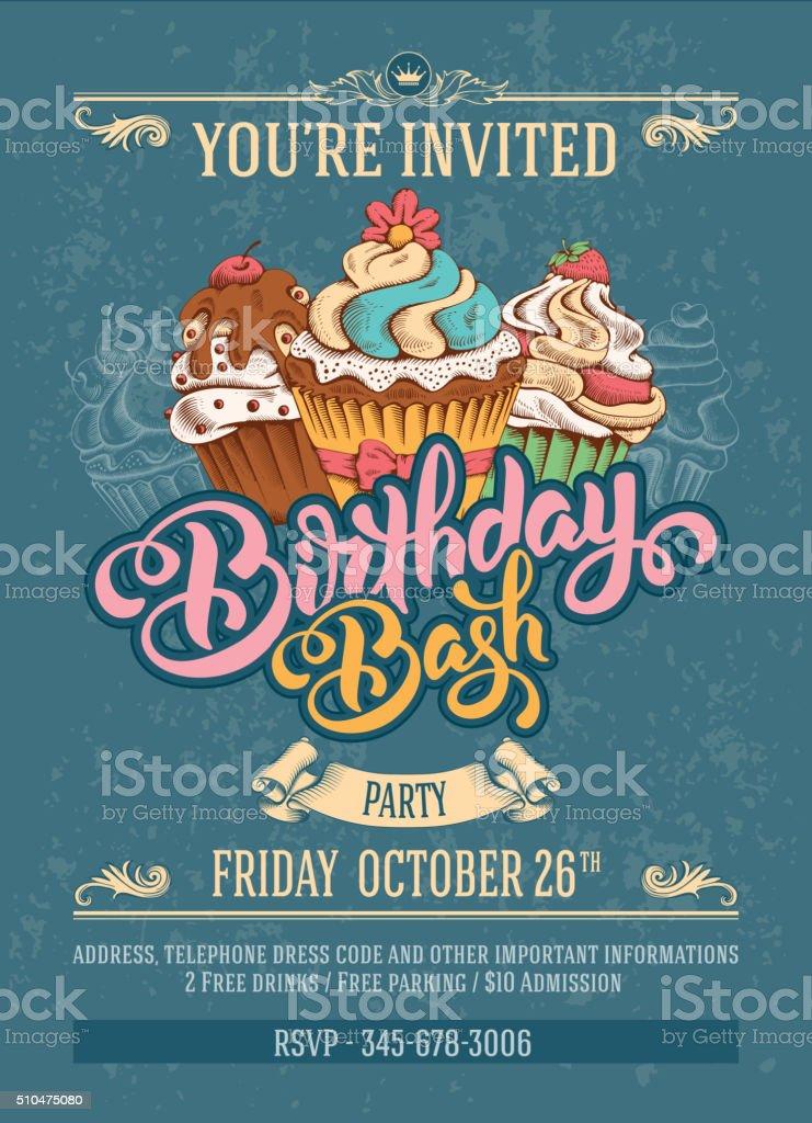 Birthday Invitation vector art illustration