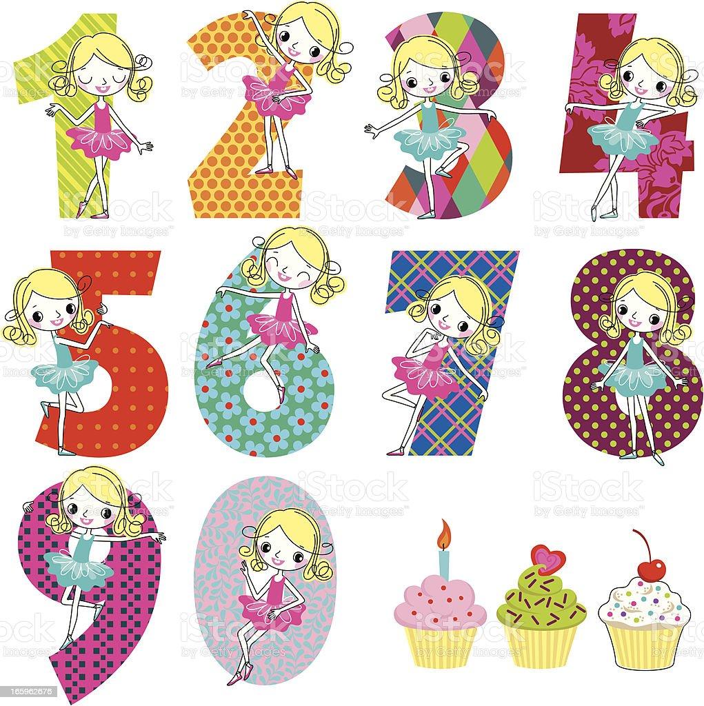 Birthday Numeral set. vector art illustration