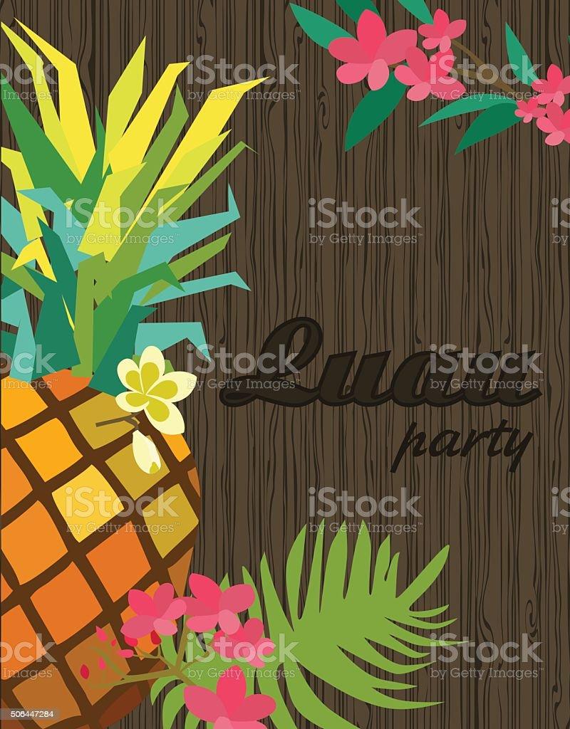 Birthday party card vector art illustration