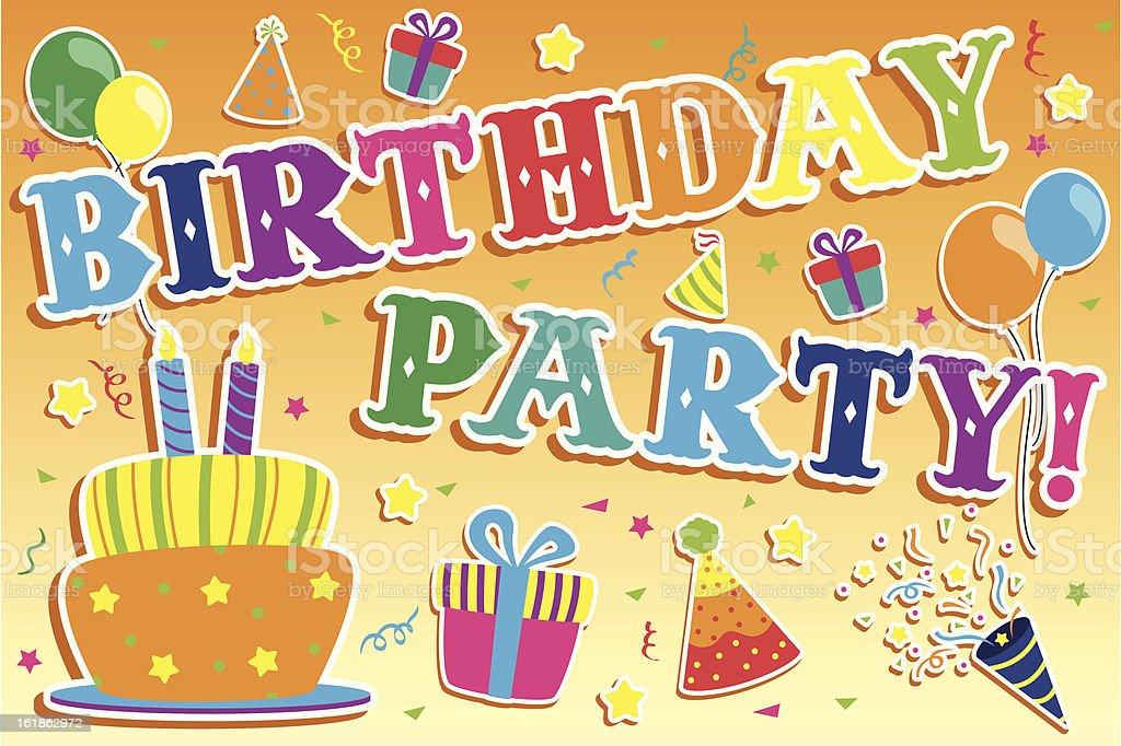 Birthday party invitation royalty-free stock vector art