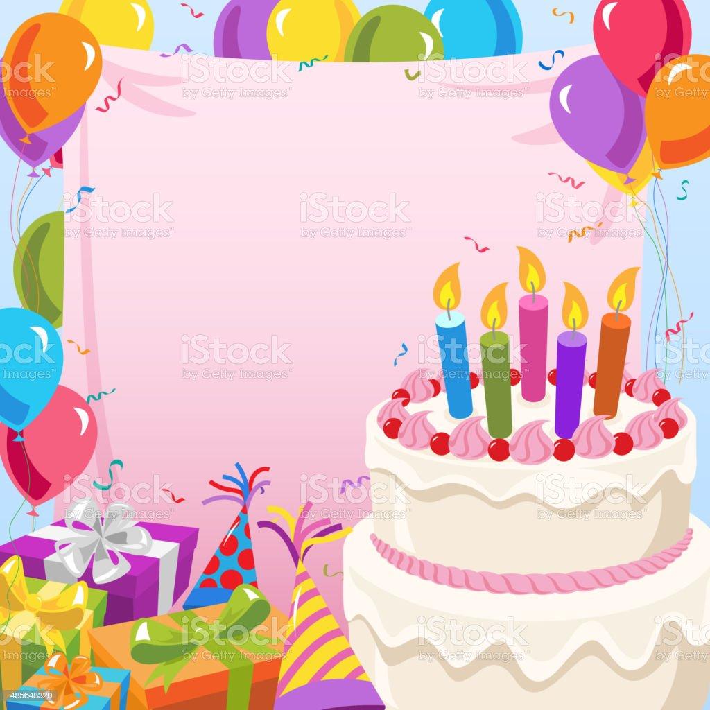 Birthday Party Invitation vector art illustration