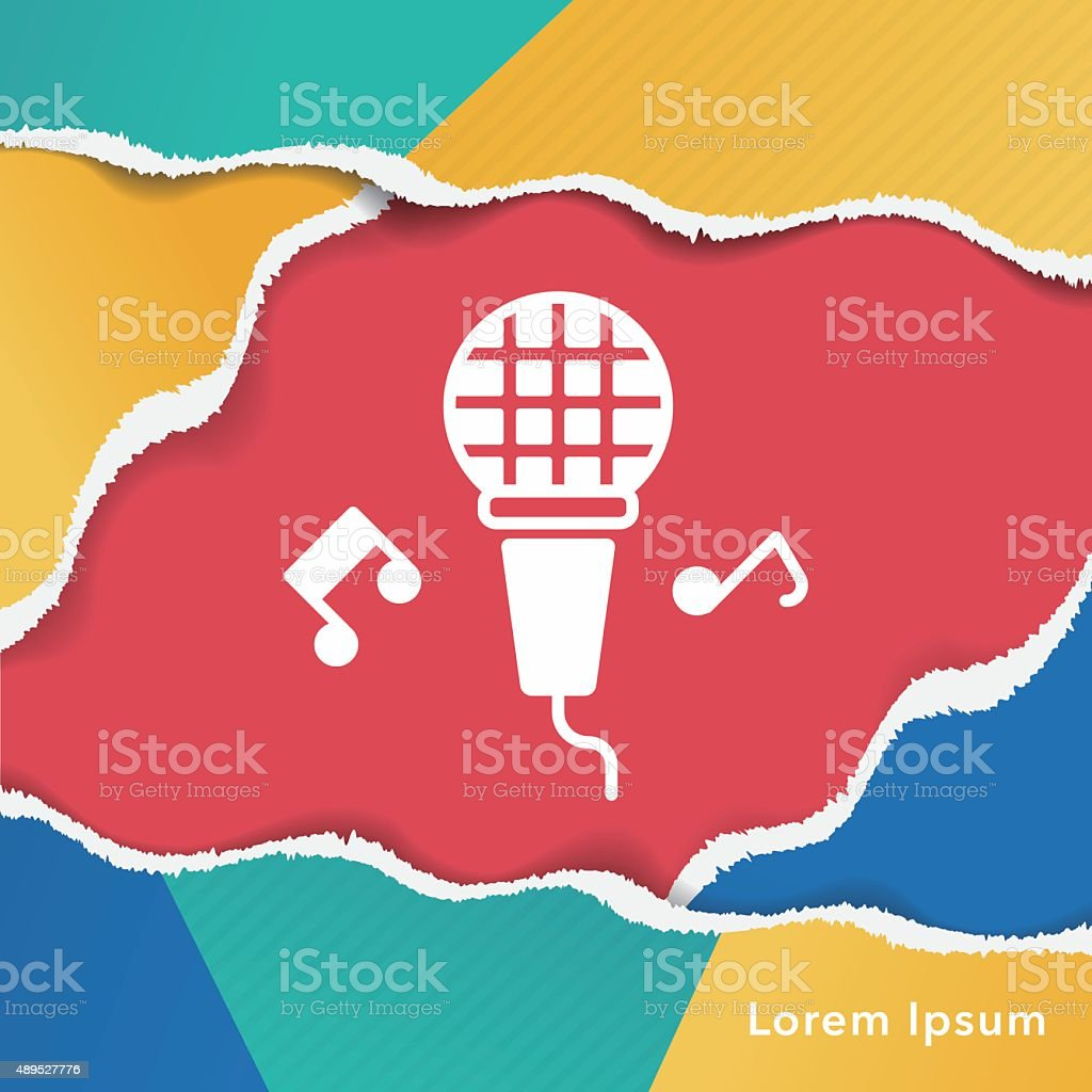 birthday party music microphone icon