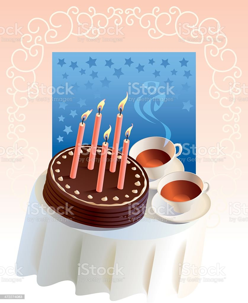 Birthday party tea royalty-free stock vector art