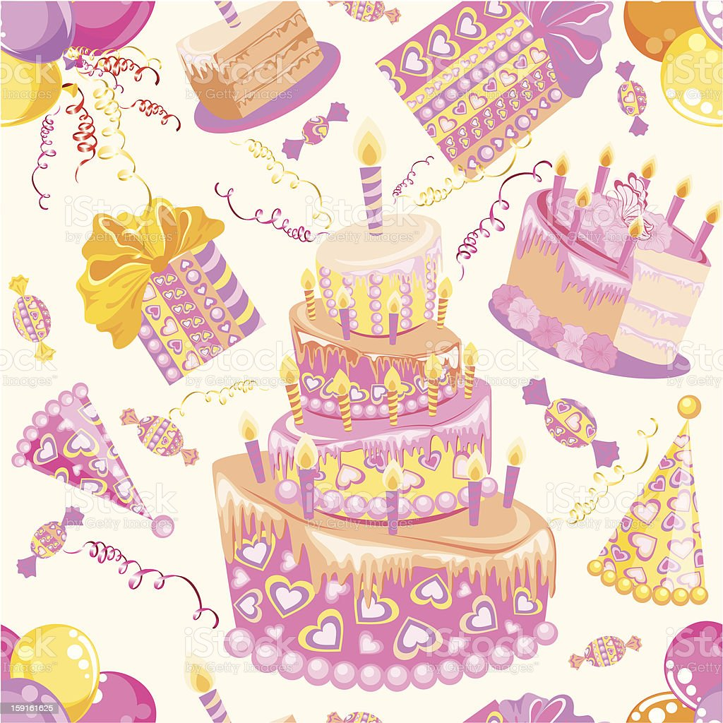 Birthday seamless background royalty-free stock photo
