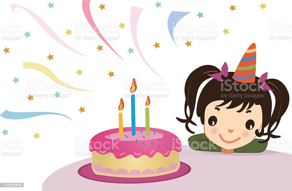 birthday wish vector art illustration